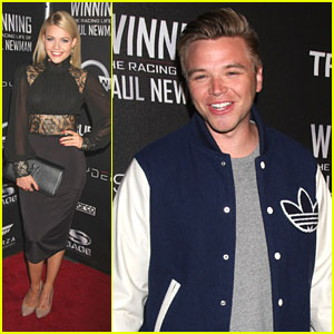 Witney Carson Joins Brett Davern For 'Winning: The Racing Life of Paul Newman' Reception