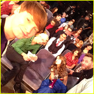 Calum Worthy Shares Last Scene Pic From 'Austin & Ally' As Cast Wraps Up Series