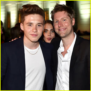Brooklyn Beckham Gets Photobombed by Cara Delevingne at Burberry Show!
