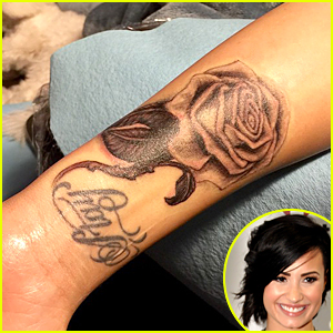 Demi Lovato Flaunts New Rose Tattoo - See the Pic Here!
