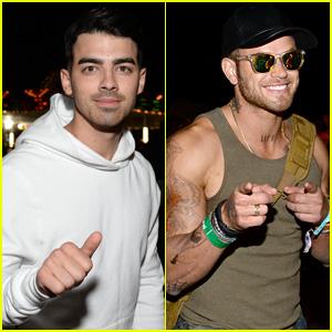 Joe Jonas & Kellan Lutz Party It Up at Coachella's Neon Carnival