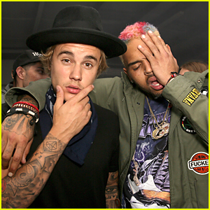 Justin Bieber & Chris Brown Get Real Silly at Nylon Coachella Party