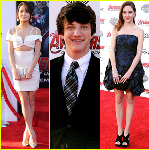Kelli Berglund & Jake Short Step Out for 'Avengers: Age of Ultron' in Hollywood