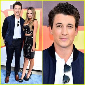 Miles Teller Hits MTV Movie Awards Carpet with Girlfriend Keleigh Sperry!