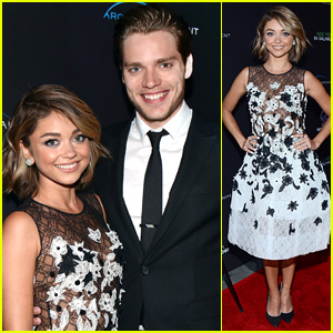 Sarah Hyland & Dominic Sherwood Hit the 'See You in Valhalla' Red Carpet Together