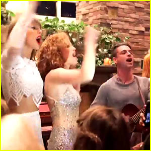 Taylor Swift Surprises BFF Abigail with Dashboard Confessional Performance!