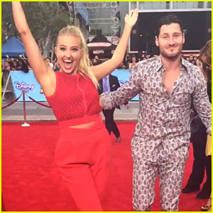 Val Chmerkovskiy Teaches Veronica Dunne How To Dance - Watch Here!