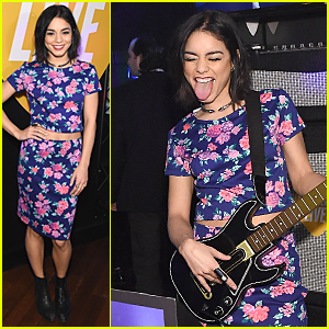 Vanessa Hudgens Rocks Out at Guitar Hero Launch