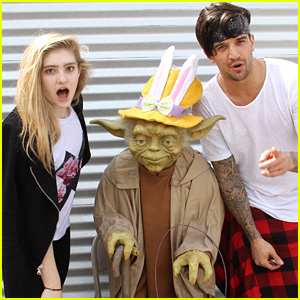 Willow Shields & Mark Ballas Hang Out With Yoda After Easter 'DWTS' Rehearsals