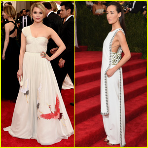 Dianna Agron Pairs Up With Maggie Q for Met Gala 2015 Red Carpet