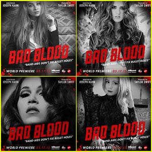 Laura Marano, Kelli Berglund & Sabrina Carpenter Star In JJJ's Disney-Fied 'Bad Blood' Music Video Posters