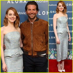 Emma Stone Keeps it Cute at 'Aloha' London Screening With Bradley Cooper