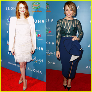 Emma Stone Hits Up 'Aloha' Premiere After Spending the Day With Andrew Garfield
