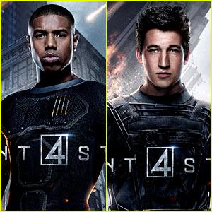 Michael B. Jordan & Miles Teller Get Into Character for 'Fantastic Four' Posters!