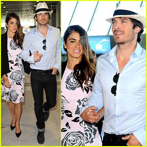 Ian Somerhalder & Nikki Reed Jet Out of Cannes Together
