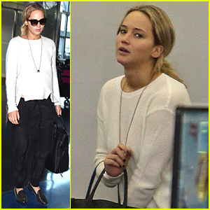Jennifer Lawrence Flies Out of New York City Right After Met Gala