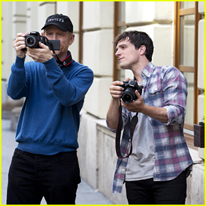 Josh Hutcherson Visits Budapest With Ron Howard For Canon's Imagination Project