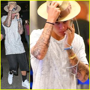 Justin Bieber Jets to L.A. After 'Zoolander 2' Filming