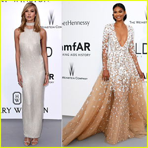 Karlie Kloss Stuns at amfAR Gala with Chanel Iman