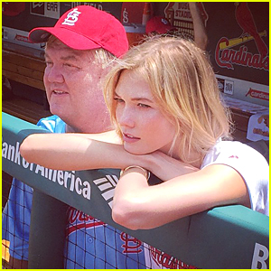 Karlie Kloss Hits Cardinals Game on Memorial Day