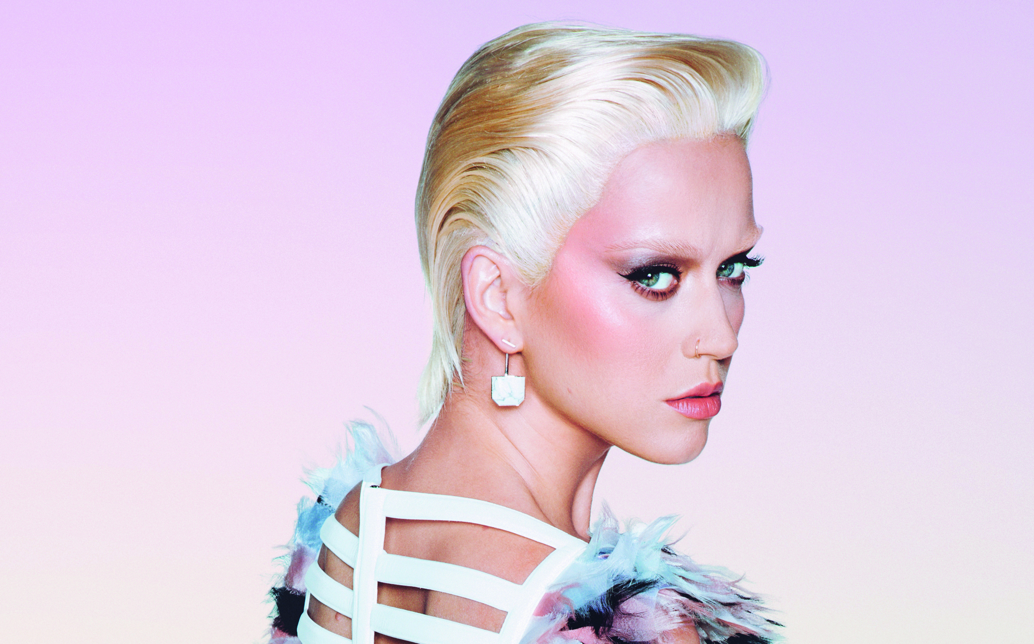 katy perry looks so different with bleached blonde