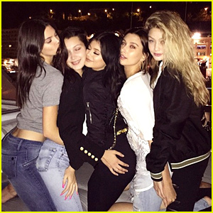 Kendall & Kylie Jenner Party on a Yacht with Gigi Hadid!