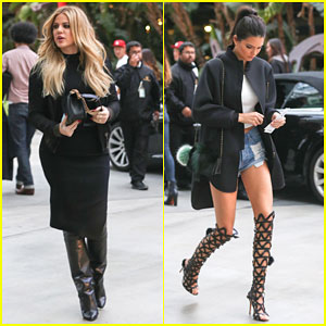 Kendall Jenner Heads to the Clippers Game With Khloe Kardashian