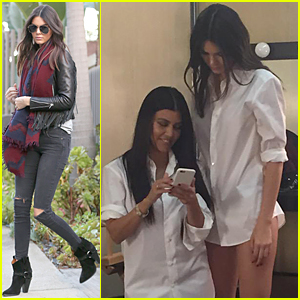 Kendall Jenner Towers Over Sis Kourtney Kardashian - See the Pic!