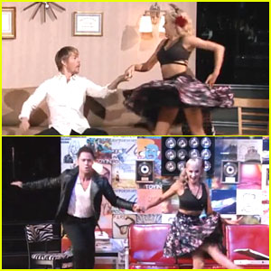 Nastia Liukin is Caught Between Derek Hough & Sasha Farber For Jive on 'DWTS' - Watch Now!