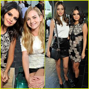 Selena Gomez & Britt Robertson Meet Up at Louis Vuitton Presentation