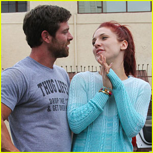 Sharna Burgess & Noah Galloway Get Coached By Carrie Ann Inaba For 'Dancing With The Stars' Semi-Finals