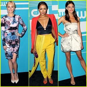 The Vampire Diaries' Candice Accola & The Originals' Phoebe Tonkin Reunite At CW Upfronts 2015