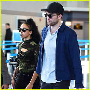 Robert Pattinson Lands in New York with FKA twigs!