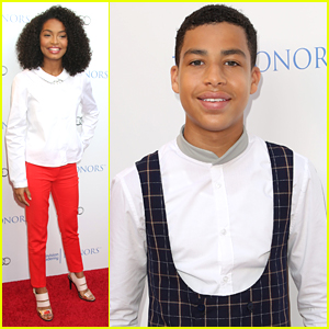 'black-ish's Yara Shahidi & Marcus Scribner Step Out For Television Academy Honors 2015