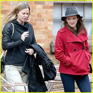 Danielle Panabaker Strolls With Kristin Bauer van Straten In Sydney