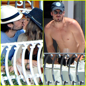 Ian Somerhalder & Nikki Reed Share a Kiss in Italy!