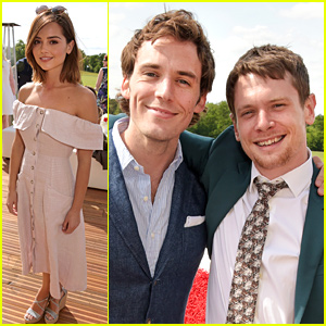 Jenna Coleman & Sam Claflin Check Out Polo in London