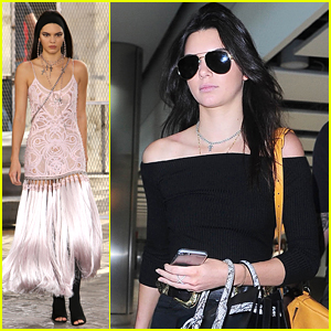 Kendall Jenner Walks In Givenchy Men's Fashion Show in Paris - See The Pics!