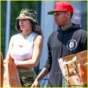 Kylie Jenner Goes Camouflage for Shopping with Beau Tyga