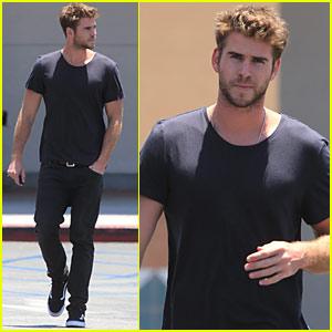 Liam Hemsworth Looks Super Suave in All Black