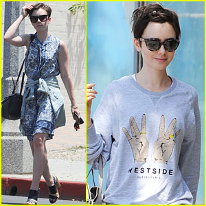 Lily Collins Shows Her Colors At LA Pride