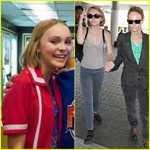 Lily-Rose Depp Heads Out of L.A. with Mom Vanessa, New 'Yoga Hosers' Stills