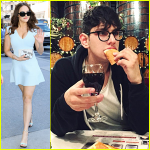 Elizabeth Gillies Hits the Big Apple After Hanging Out With Matt Bennett