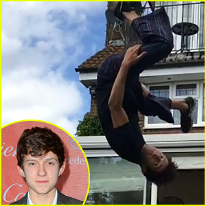 Tom Holland Displays Stunts That Prove He Would Be a Great Spider-Man!