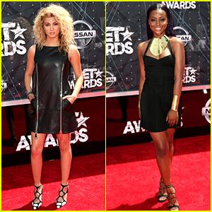 Tori Kelly & Justine Skye Rock LBDs for BET Awards 2015!