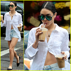 Vanessa Hudgens Spent Her Last Day in NYC Having a Delicious Meal!