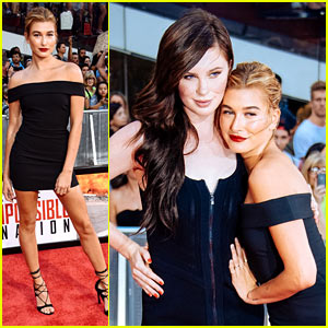 Hailey Baldwin Joins Cousin Ireland at 'Mission: Impossible' NYC Premiere!