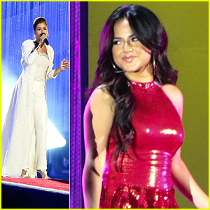 Becky G & Cassadee Pope Perform At Special Olympics Opening Ceremonies
