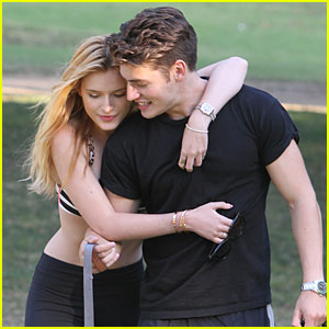 Bella Thorne & Gregg Sulkin Cuddle Up at the Dog Park