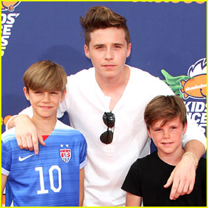 Beckham Boys Attend Kids' Choice Sports Awards Together!